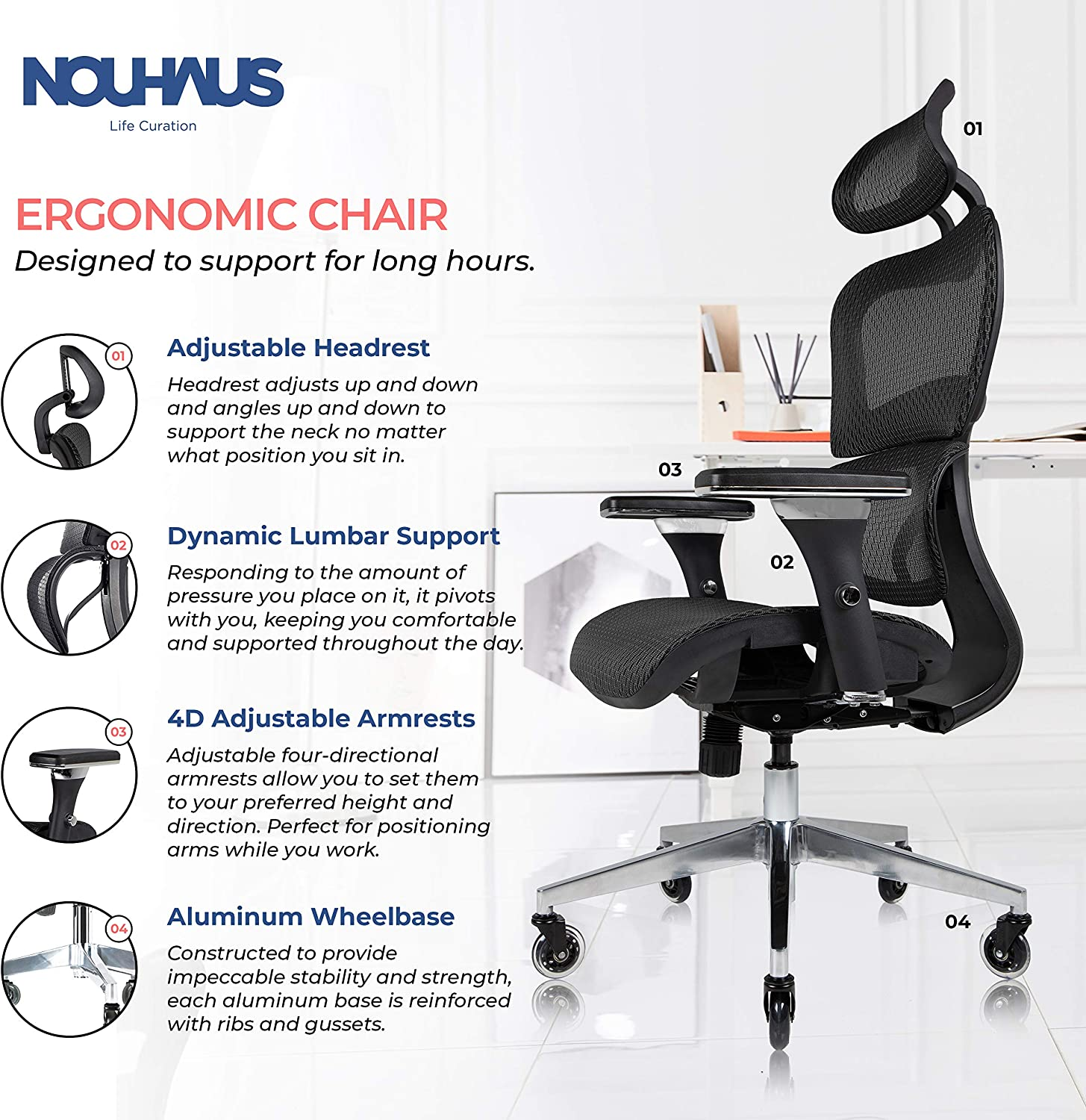 91hCN632pLL. AC SL1500 - What Are The Best Office Chair For Lower Back Pain Under $300 - ChairPicks