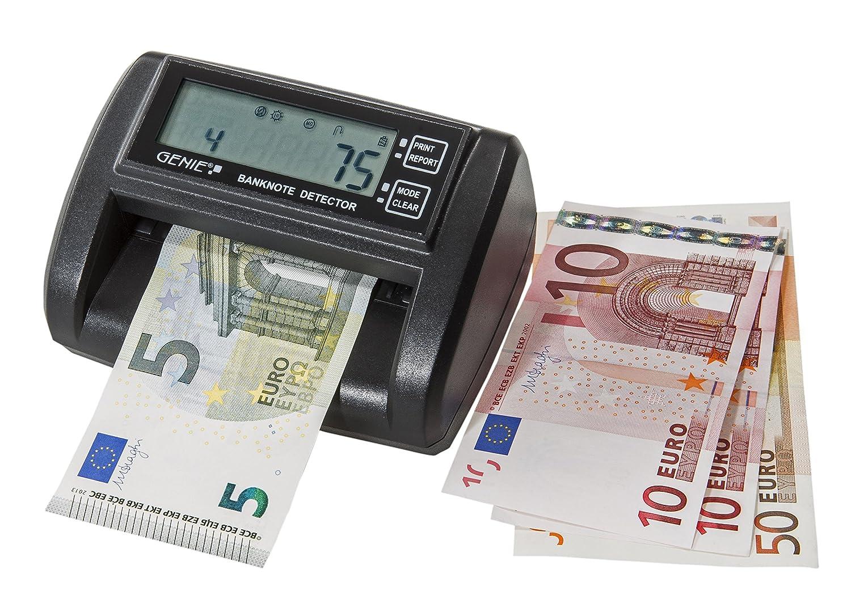 Genie MD 212-A lettore di banconote con funzione di conteggio (contatore banconote integrato, elettronico, incl. alimentazione, con funzionamento a batteria opzionale) Dieter Gerth GmbH