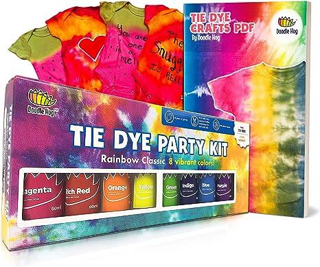 Doodlehog Kit de fiesta de tinte fácil de atar para niños, adultos ...