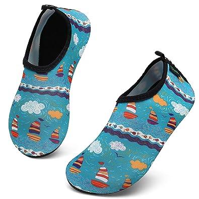 037d34b94d SAGUARO Strandschuhe Kinder rutschfest Badeschuhe Wasserschuhe Mädchen  Schwimmschuhe Schnelltrocknend Leicht Jungen Aquaschuhe Baby  Barfußschuhe,Mehrfarbig