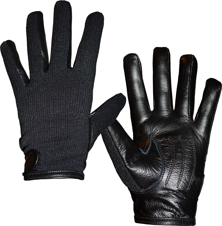 Mens black leather gloves debenhams - Unisex Mens Womens Semi Leather Gloves Stretch Fit Xs S M Amazon Co Uk Clothing