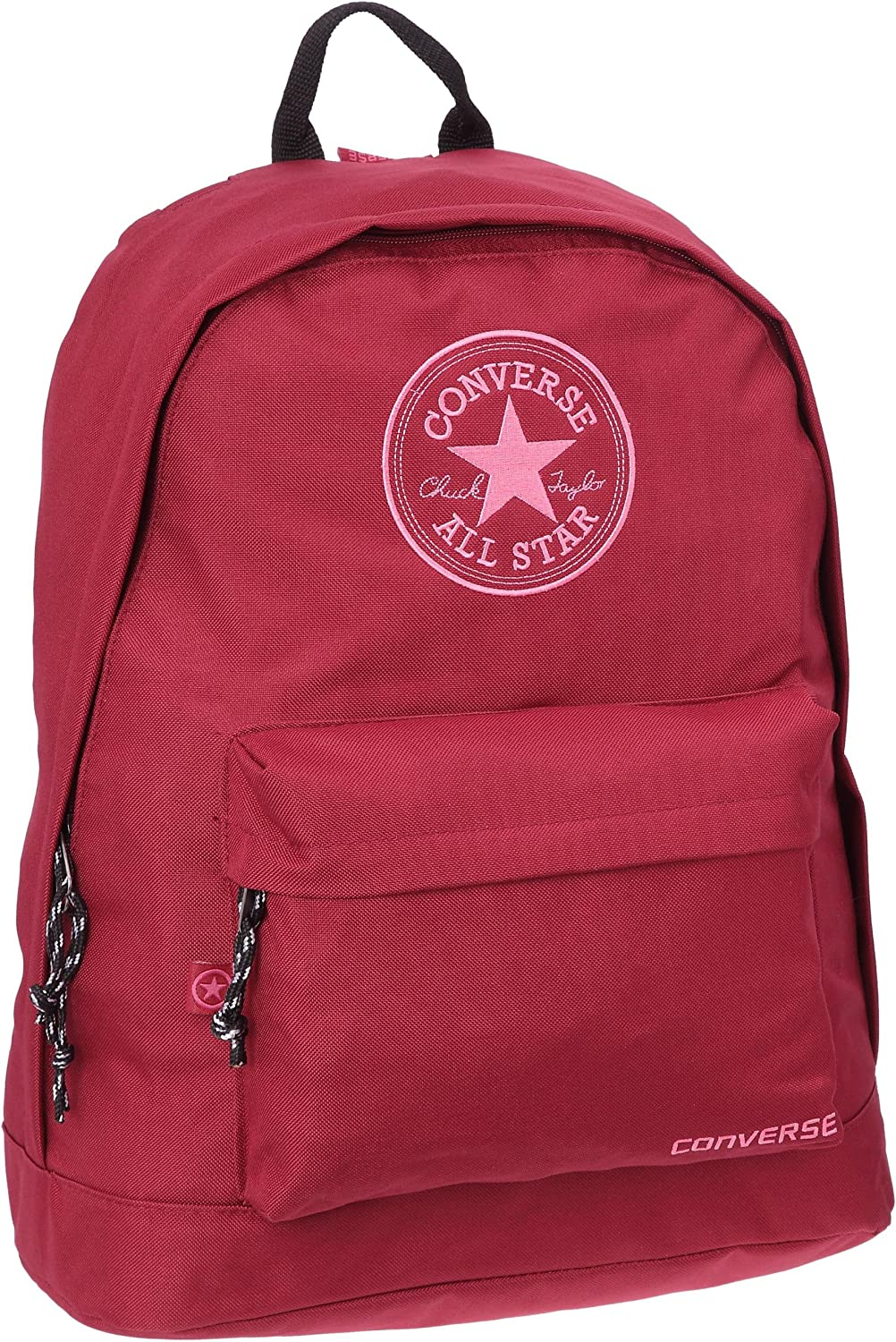 Converse Chuck Taylor All Star Essentials Basic Backpack, Sac dos mixte adulte Rouge fonc, Textile