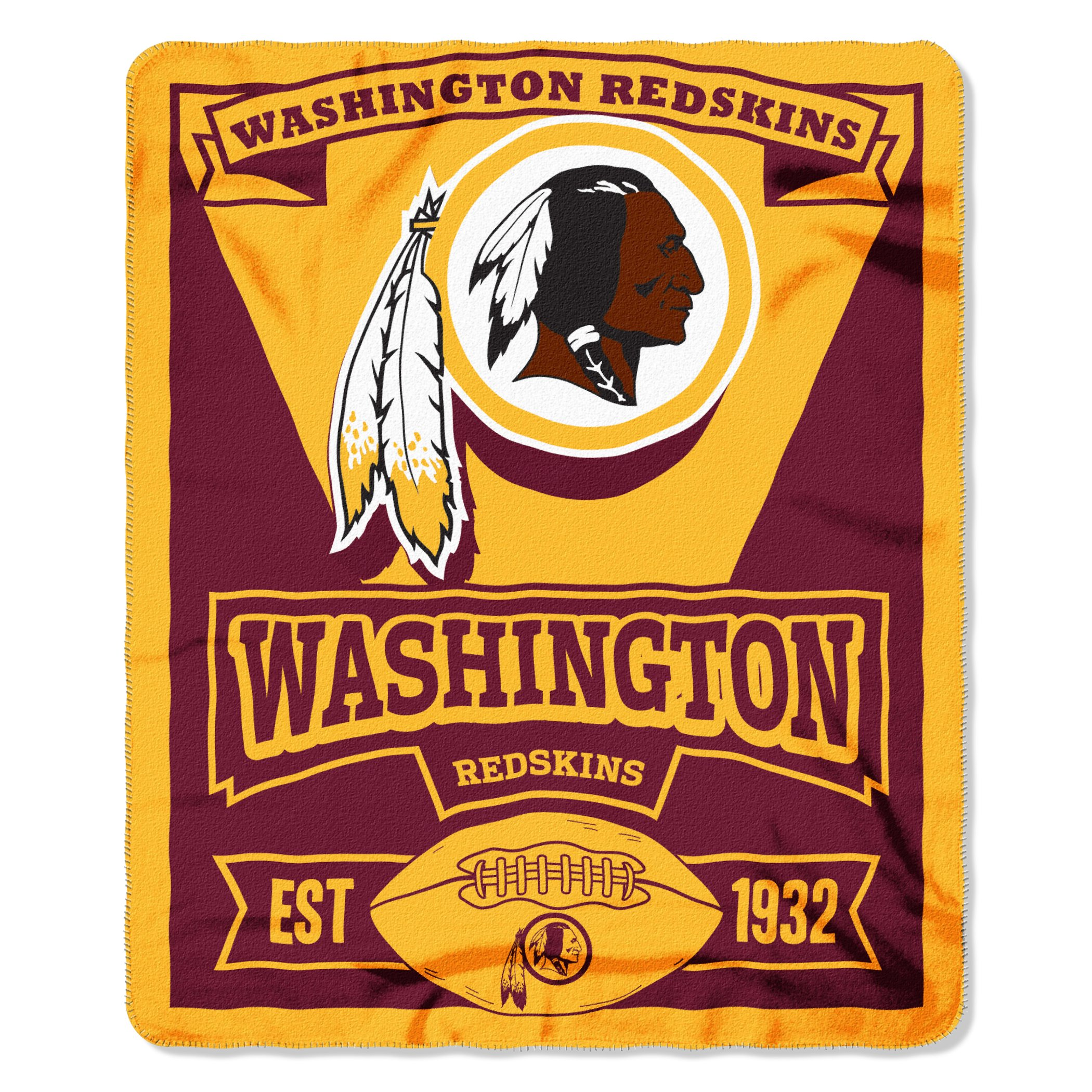 Officially Licensed NFL Washington Redskins ''Marque'' Printed Fleece Throw Blanket, 50'' x 60'', Multi Color by The Northwest Company