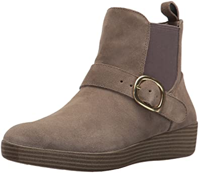 07053755a Amazon.com  FitFlop Women s Superbuckle Suede Chelsea Boots Fashion ...