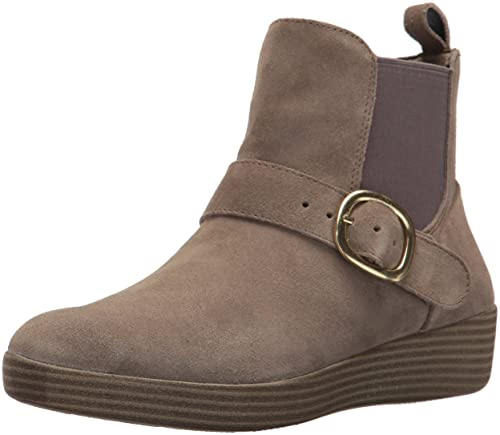 9fe693a0abcf7b FitFlop Women s SUPERBUCKLE Suede Chelsea Boots Fashion
