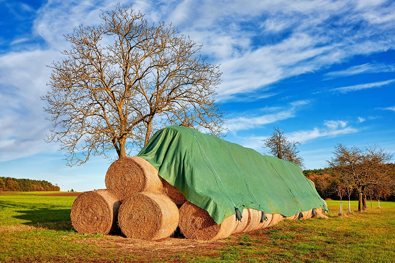 Land-Grid V02 Strohvlies, Abdeckvlies, Schutzvlies fü r Stroh, Getreide, Heu, Kompost, 140g/m²