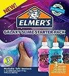 Elmer's, Pegamento Líquido con Glitter Galaxy Slime Starter, 6 oz, 3 Unidades, Rosa/Azul/Púrpura