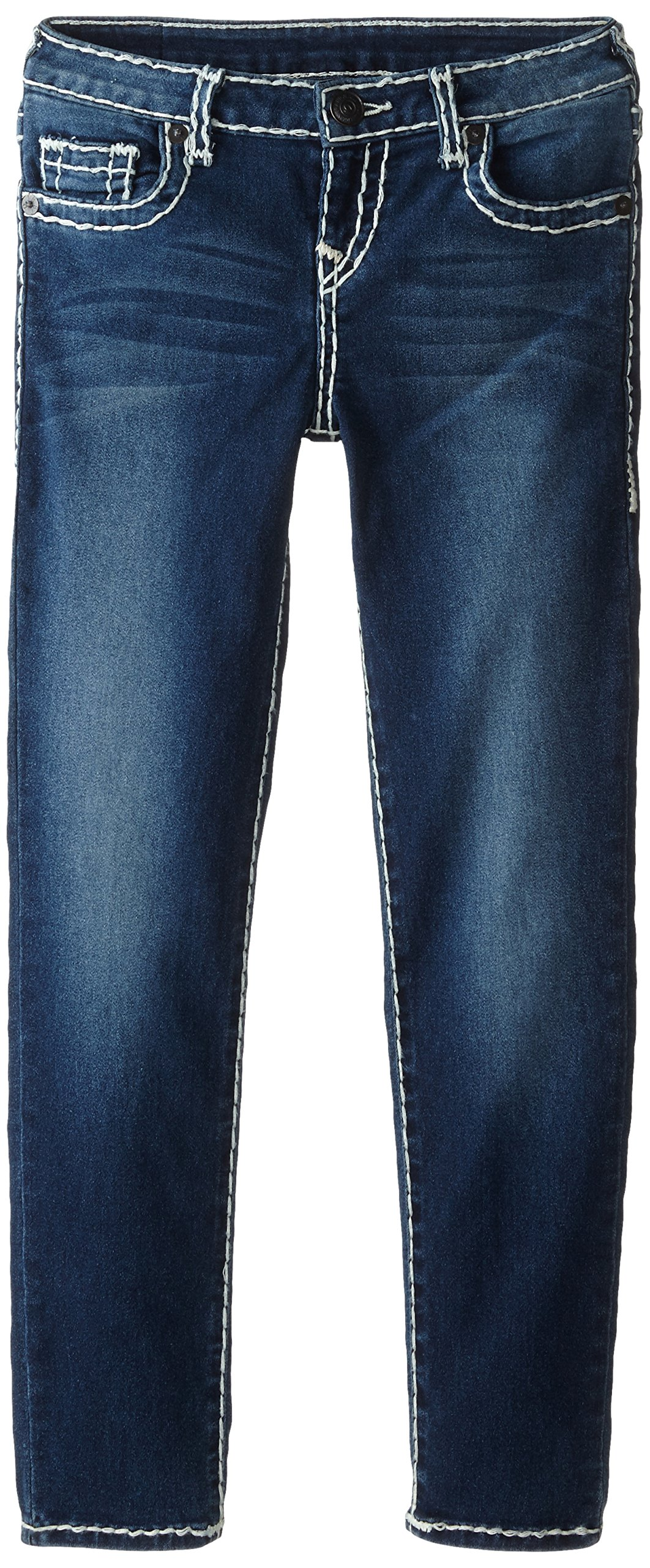 True Religion Girls' Casey Skinny Jean-Natural Super T, Ancient, 2T