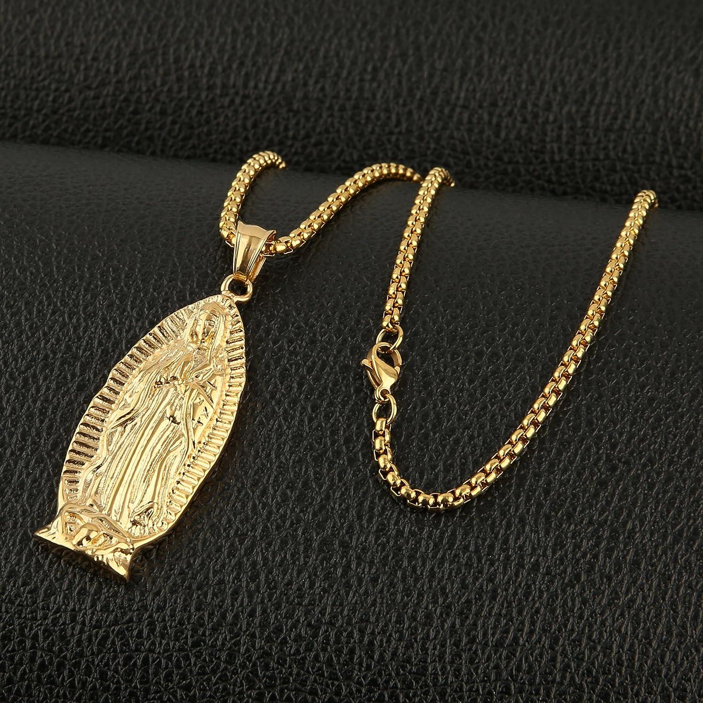Amazon.com: HZMAN - Collar con colgante de la Virgen de ...