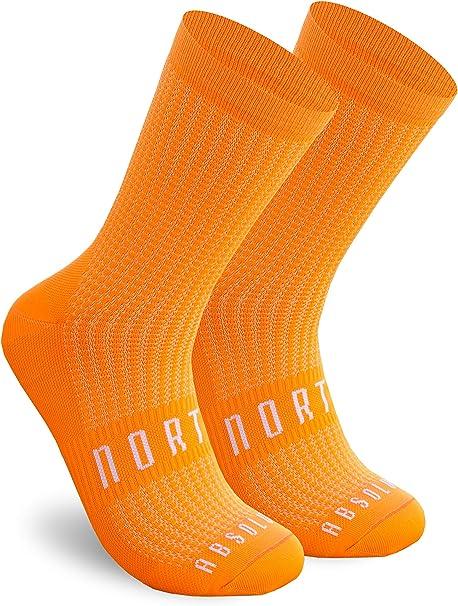 NORTEI Calcetines Naranjas para Ciclismo, MTB y Running de Caña Alta para Hombre y Mujer – Absolute Orange: Amazon.es: Deportes y aire libre