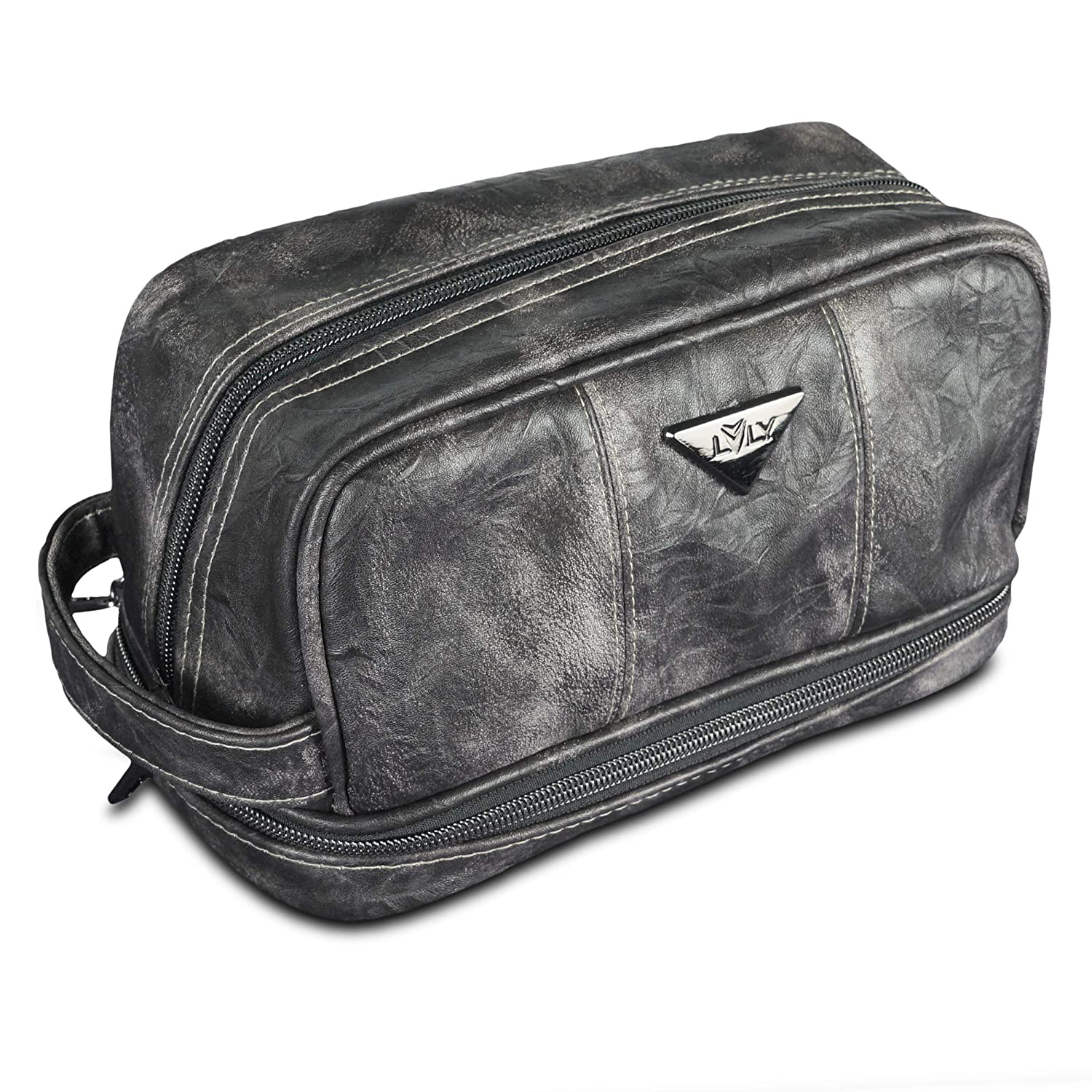 5027878695 LVLY Leather Toiletry Bag Dopp Kit Mens Toiletries Travel Bags ...