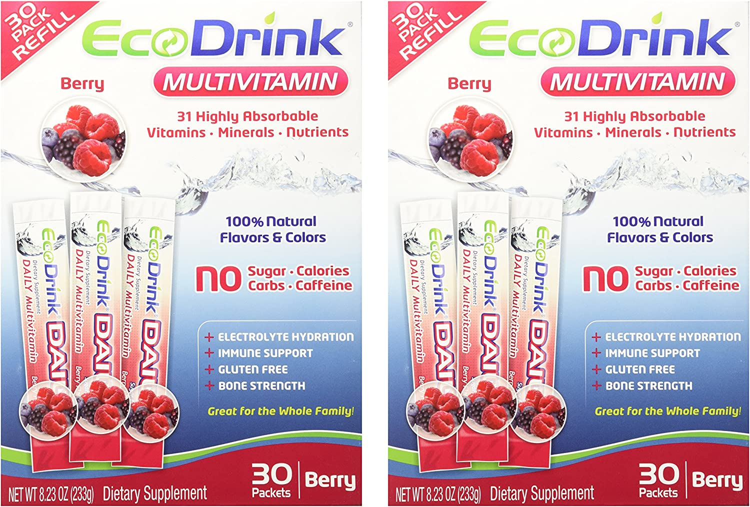 Eco Drink Complete Multivitamin Berry 30 packet 2 Pack