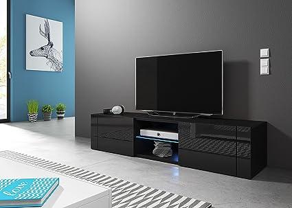 Hit mobiletto porta tv design nero opaco e nero lucido