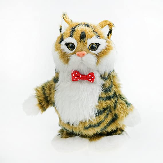 Amazon.com: funny cat (it repeats your voice and move) color brown: Toys & Games