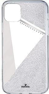 SWAROVSKI Subtle Smartphone Case with Bumper, iPhone 11 Pro Max, Silver Tone