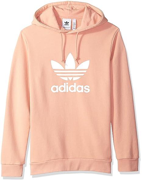 adidas Originals Men's Trefoil Hoodie, Dust Pink, X Large