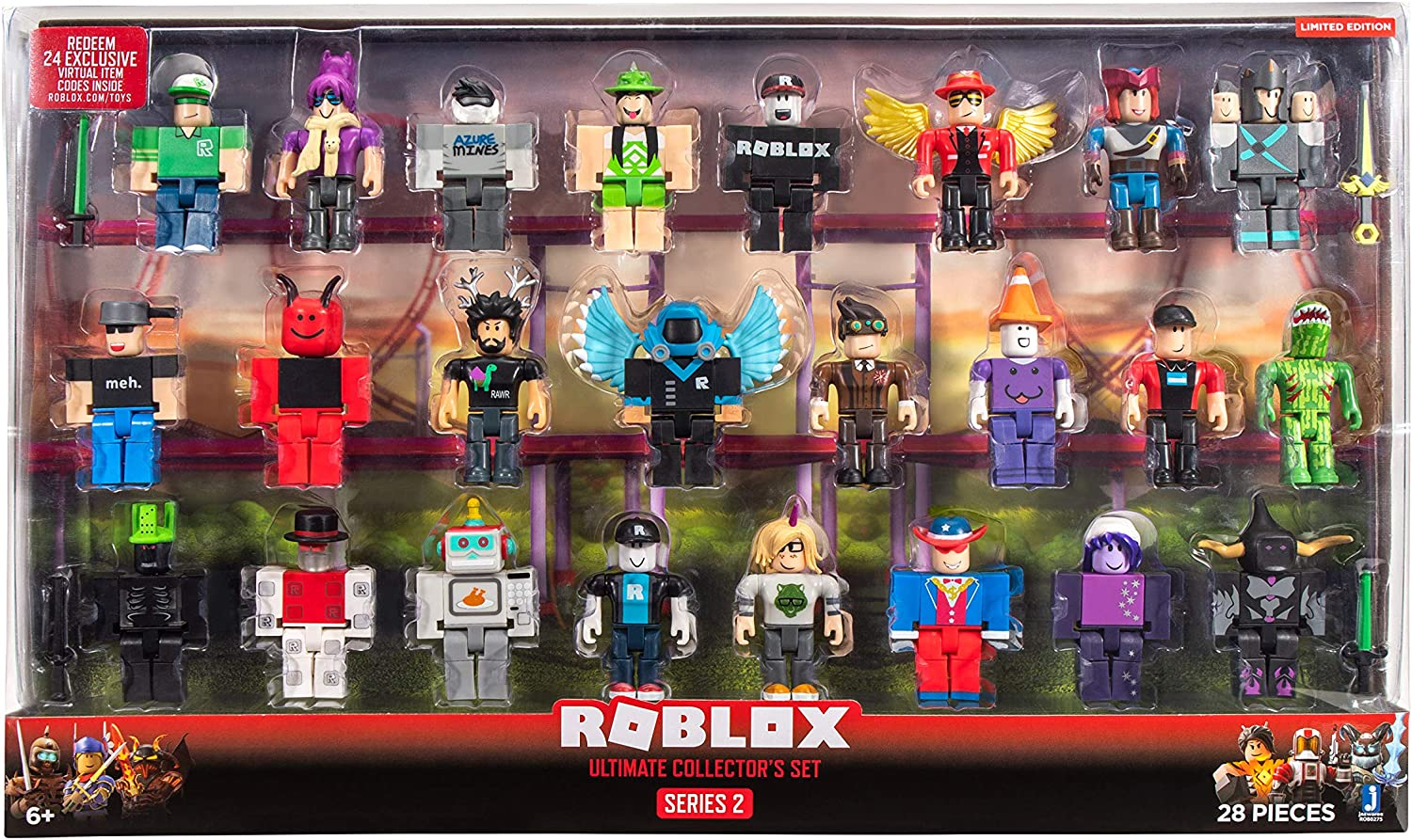 NEW Roblox Toys Defaultio Series 2 Box Figures w// Virtual Codes