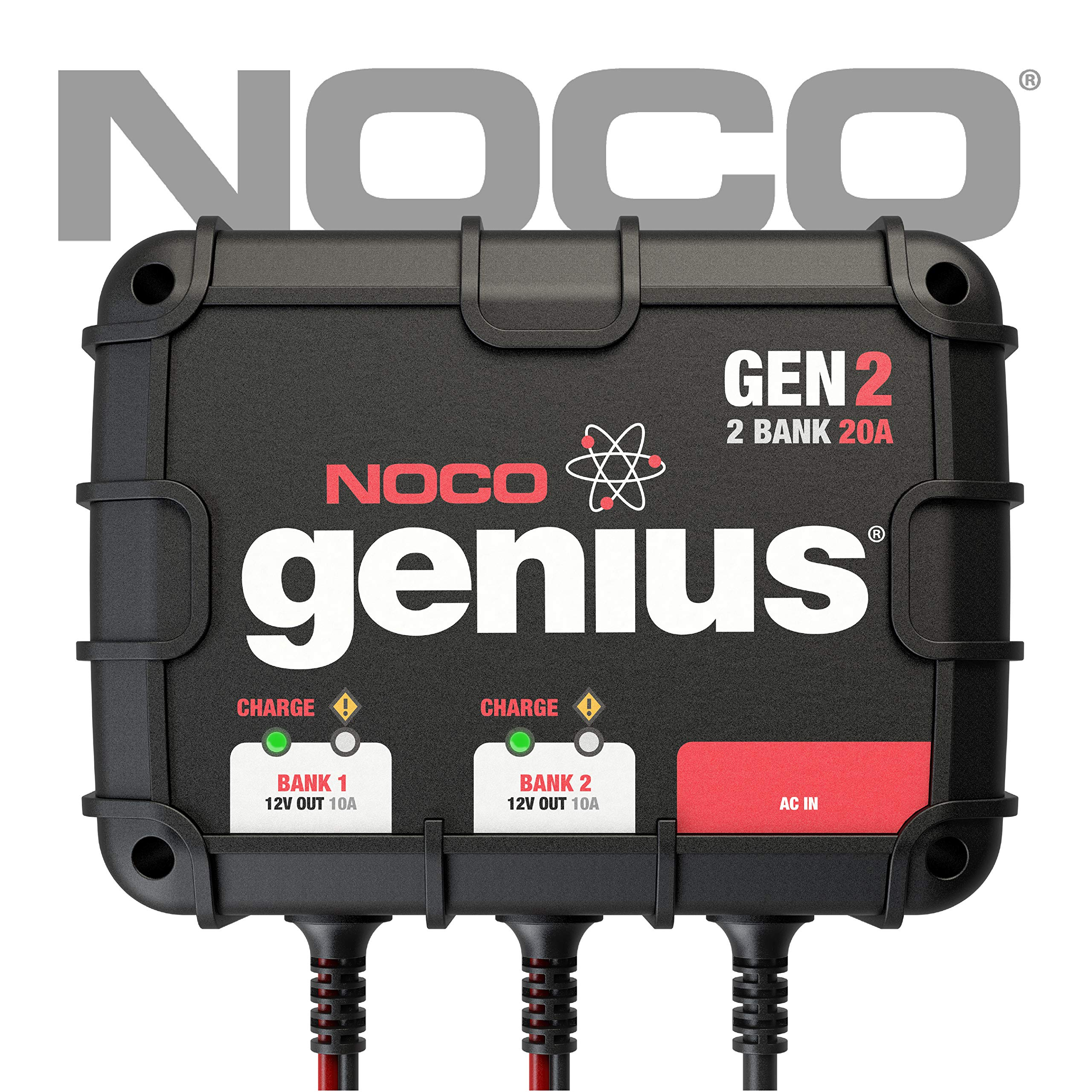 NOCO Genius GEN2 20 Amp 2-Bank On-Board Battery Charger by NOCO