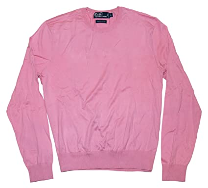 Polo Ralph Lauren Mens Italy Fine Luxury Cotton Crew Neck Sweater ...
