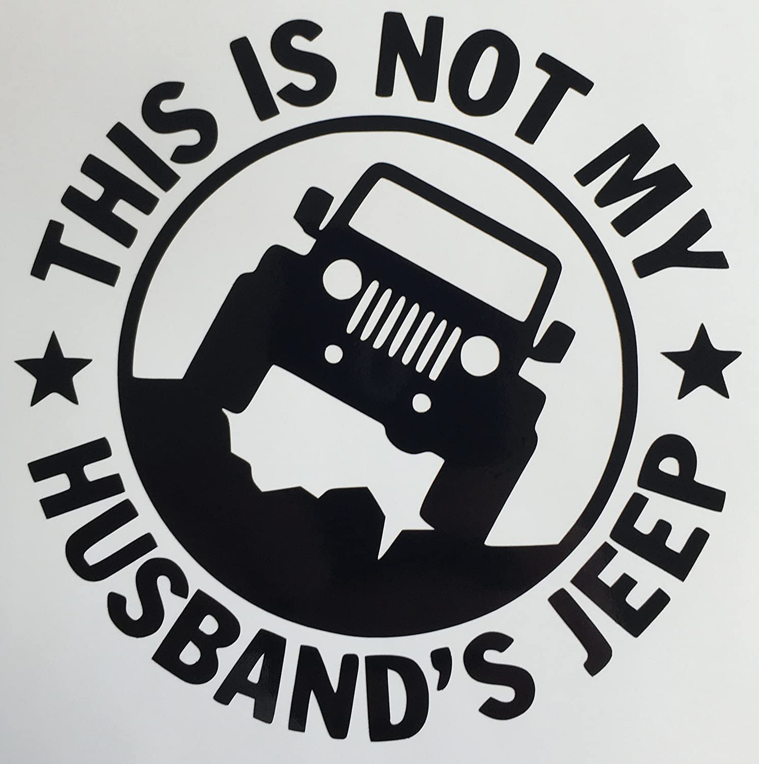 C60083 Black This Is Not My Husbands Jeep 5x5