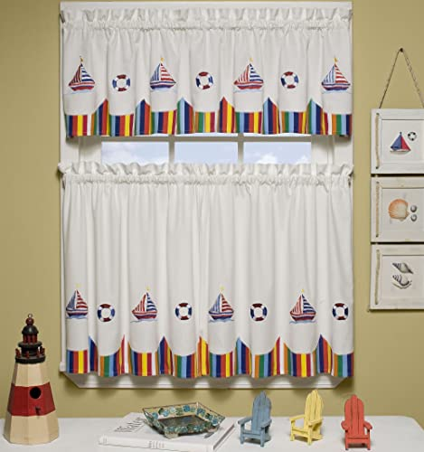 The_Curtain_Shop Newport Embroidered Nautical Design 36 Tier Pair