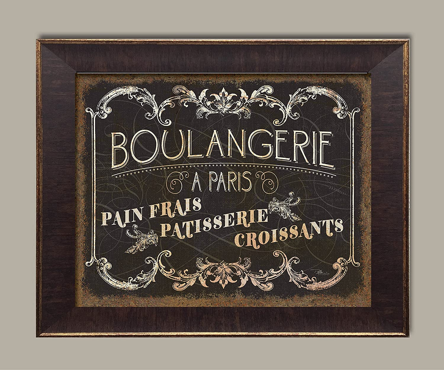 Amazon.com: Gango Home Decor Parisian Sign French Boulangerie Croissants and Patisserie by Pel Studios; One 14x11in Paper Poster: Posters & Prints