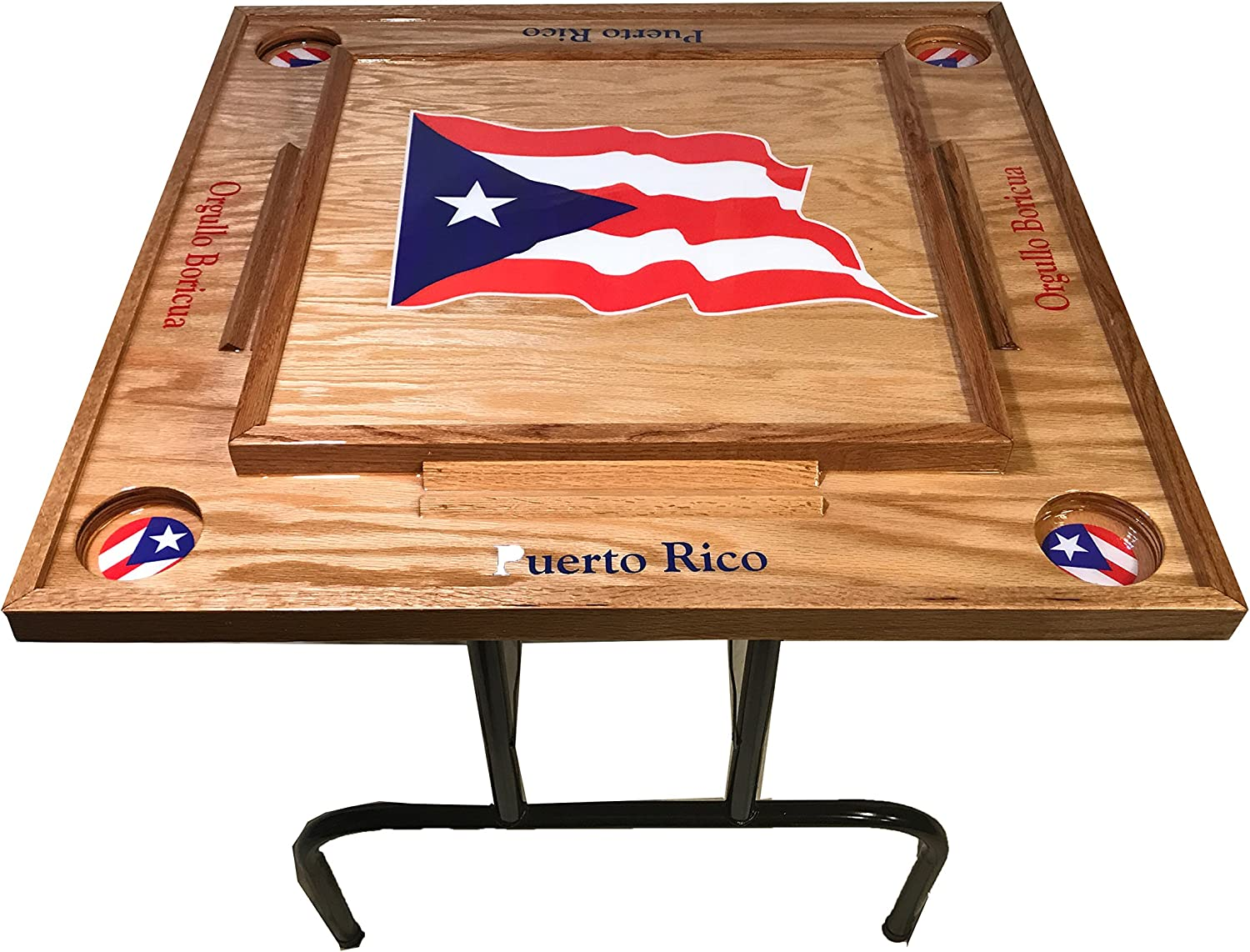 Amazon Com Latinos R Us Puerto Rico Domino Table With The Flag Sports Outdoors