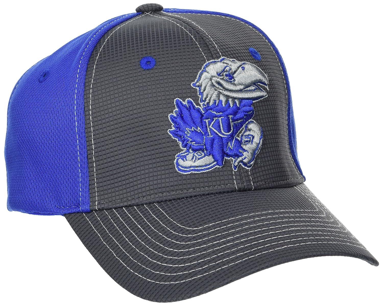 NCAA Zephyr Kansas Jayhawks Mens Grid Hat Gray//Team Color X-Large