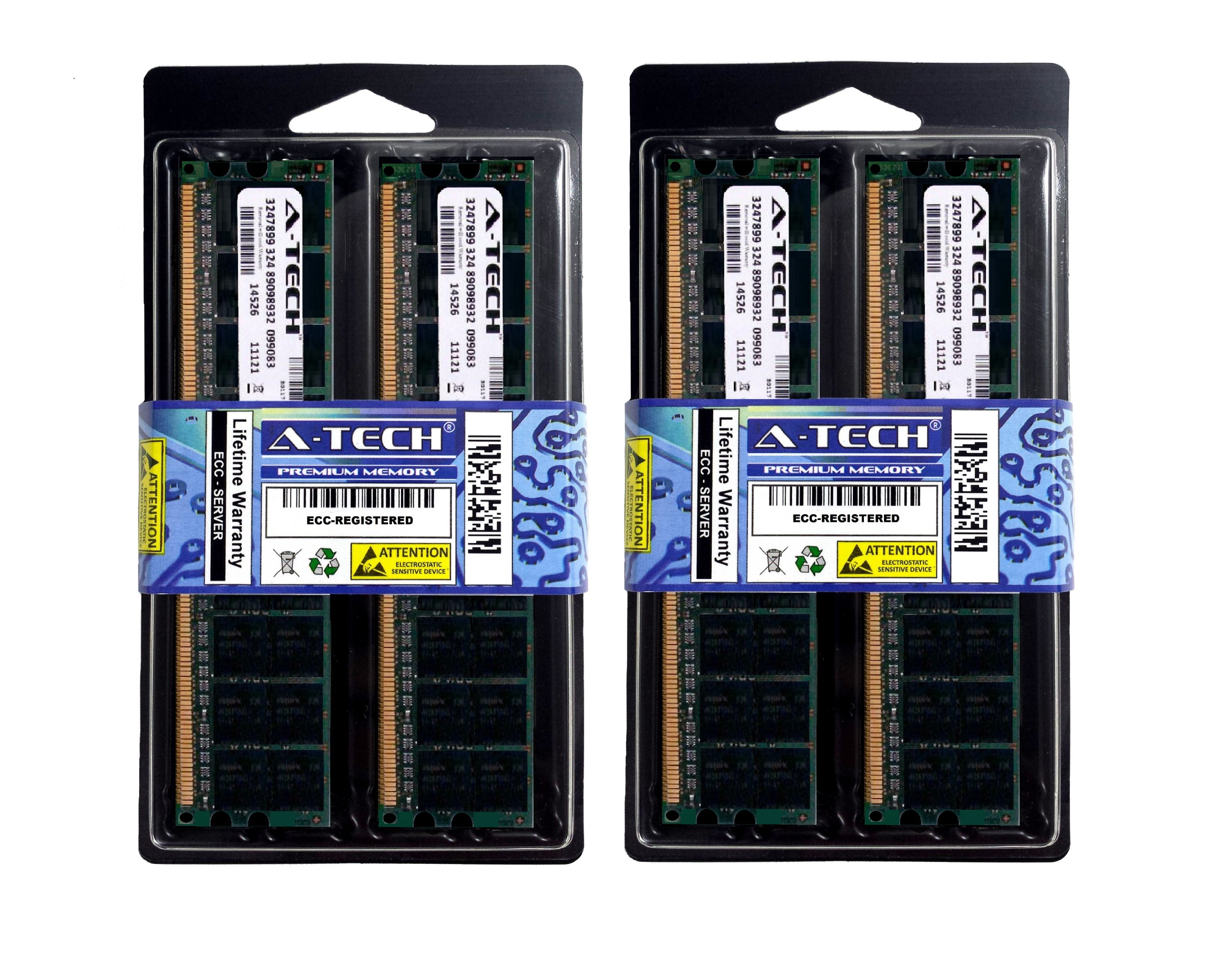 16GB Kit (4x4GB) ECC Registered DDR2 PC2-5300 (667 Mhz) Memory RAM For Hewlett Packard Compaq Servers and Workstations. Designed for the HP Compaq Proliant BL25p G2, Proliant BL465c G6 (DDR2-667MHz), Proliant BL495c G5 (DDR2-667MHz), Workstation xw9400, P