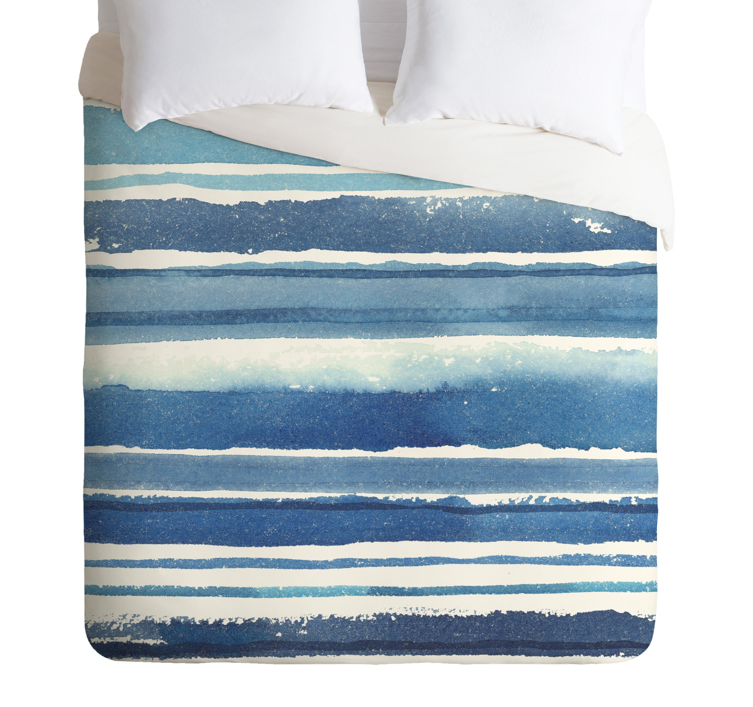 Deny Designs  Kerrie Satava Caribbean Shore Duvet Cover, Queen by Deny Designs