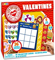 JOYIN 36 Pack Valentines Day Gifts Cards for Kids Classic Tic Tac Toe Cards, Valentine's Greeting Cards, Valentines Classroom