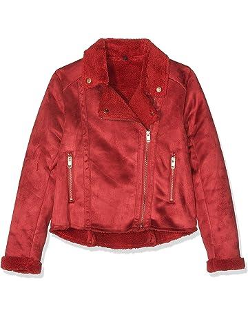 7c4ab9a58 IKKS Veste Peau Lainée Rouge Abrigo para Niñas