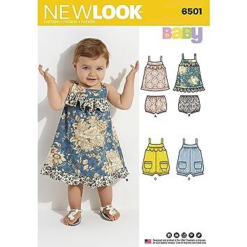 New Look D0570//6501 patrón de costura Pelele Babies vestido y separa tamaño