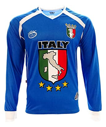 337ee10ca Amazon.com  Italy 2016 New Arza Soccer Jersey Blue Long Sleeve  Clothing