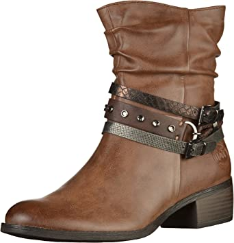 New Womens Marco Tozzi Tan 25316 Synthetic Boots Ankle Zip