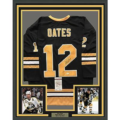 65b57f2c027 Framed Autographed/Signed Adam Oates 33x42 Boston Bruins Black Hockey Jersey  JSA COA