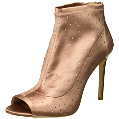 Jewel Badgley Mischka Women's Margarita Shoe, blush satin, M080 M US | Pumps