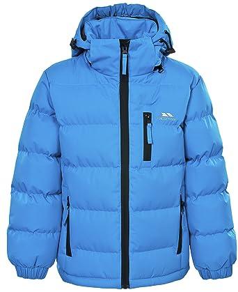 294e7e88ddbd Trespass Tuff, Blue, 2/3, Waterproof Jacket with Removable Hood for Kids