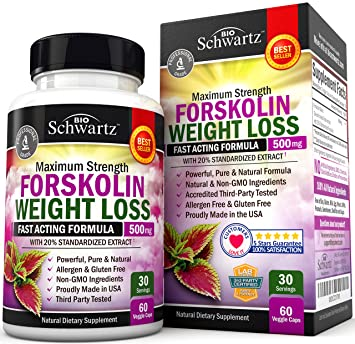 Forskolin Extract For Weight Loss Pure Forskolin Diet Pills Belly Buster Supplement Premium Appetite Suppressant Metabolism Booster Carb Blocker