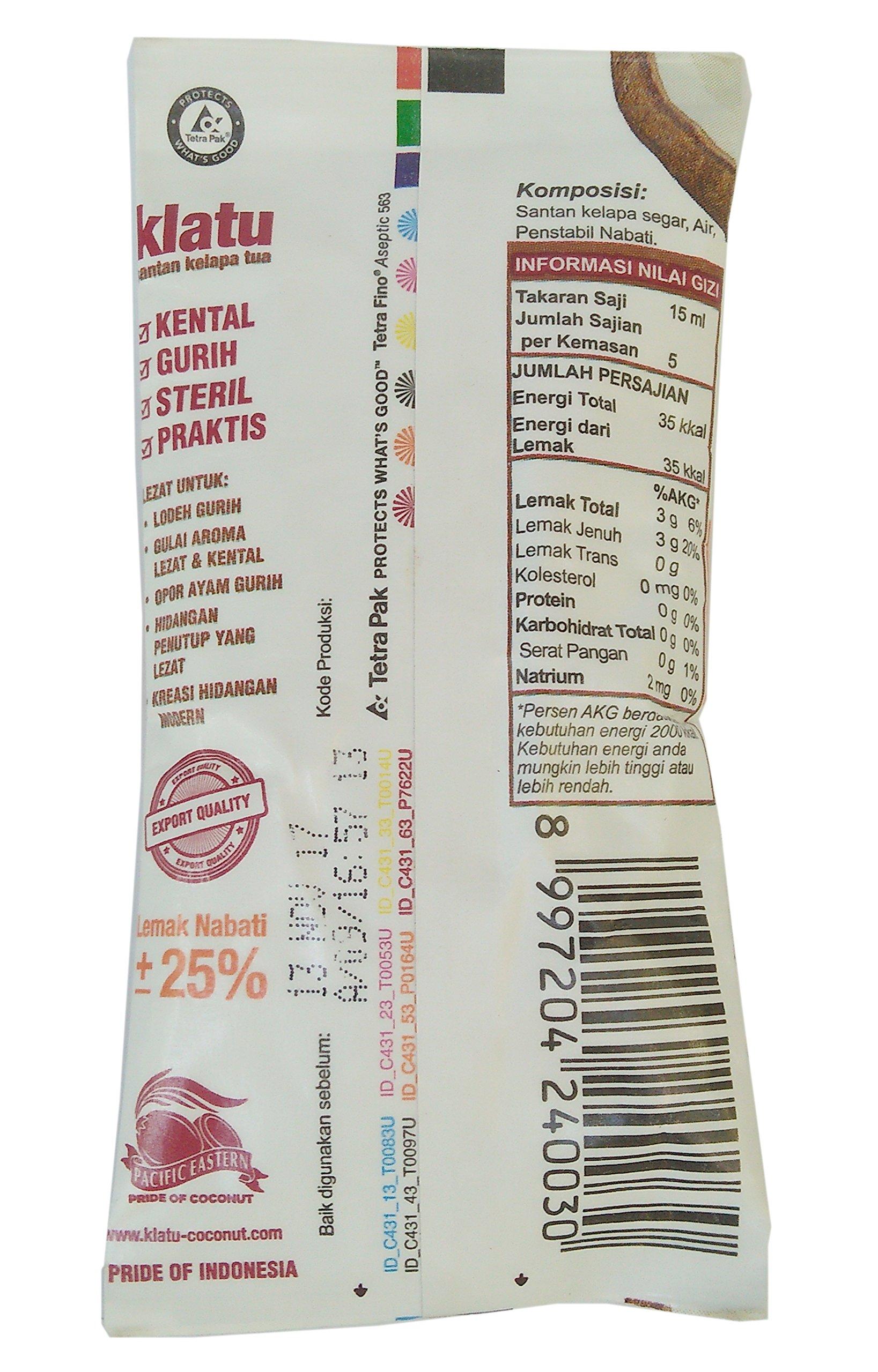 Klatu Santan Kelapa Tua - Coconut Cream Powder, 70ml (Pack of 36) by Klatu (Image #2)