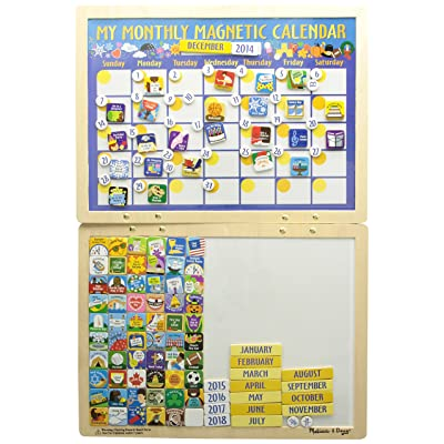 Melissa & Doug- My Monthly Magnetic Calendar (13788): Juguetes y juegos