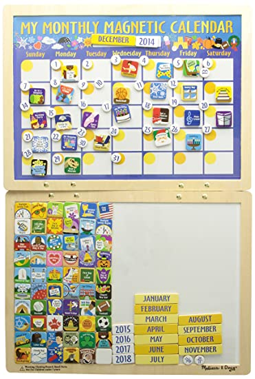 Amazon.com : Melissa & Doug - 13788 - My Monthly Magnetic Calendar ...
