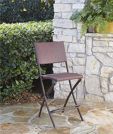 Amazon.com: Paquete Delray de dos sillas plegables y mesa ...