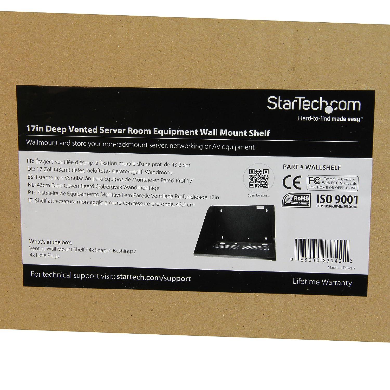WALLSHELF StarTech.com 17in Deep Vented Server Room Equipment Wall Mount Shelf