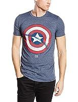 Marvel Men's Captain America Shield Short Sleeve T-Shirt