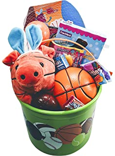 Amazon blaze monster truck easter basket great for little basketball easter bucket prefilled with boys sports activity candy and toy classic easter gift basket negle Gallery