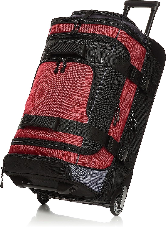 AmazonBasics - Mochila con ruedas de ripstop, 83 cm, 87 litros - Rojo