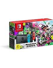 Nintendo Switch-Konsole Neon-Blau / Neon-Rot + Splatoon 2