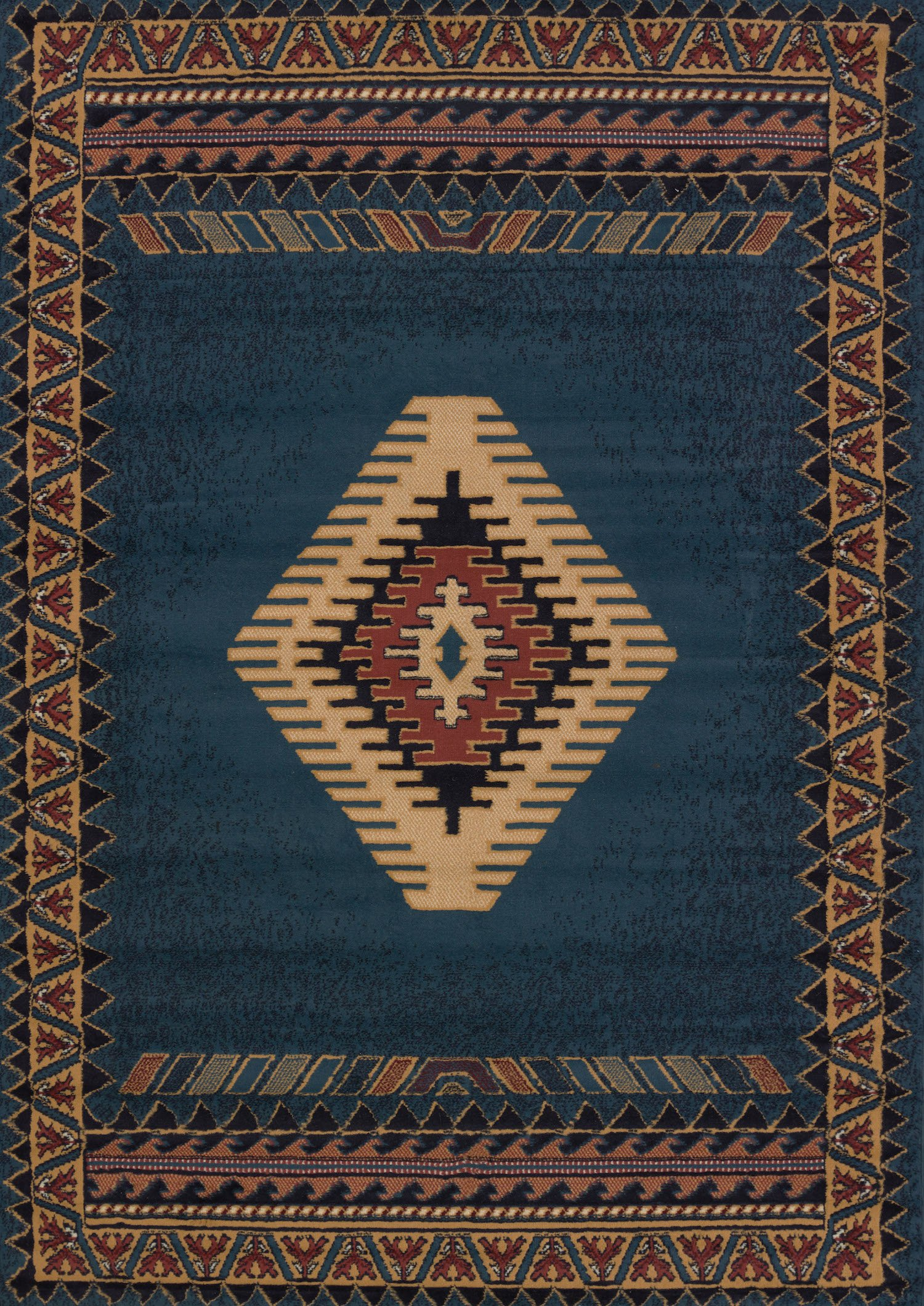 United Weavers of America Tucson Manhattan Rug Collection, 5'3'' x 7'6'', Blue