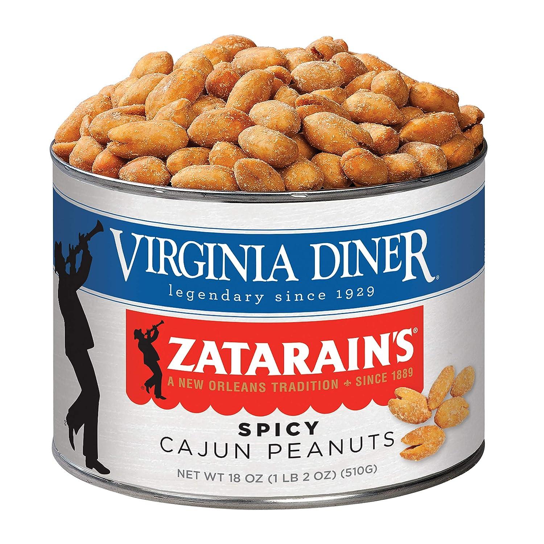 Virginia Diner - Gourmet Zatarains Smoked Cajun Seasoned Virginia Peanuts, 18 Ounce Tin